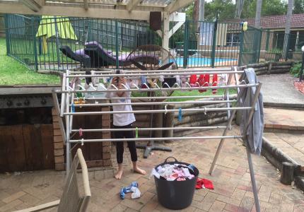 Low washing line
