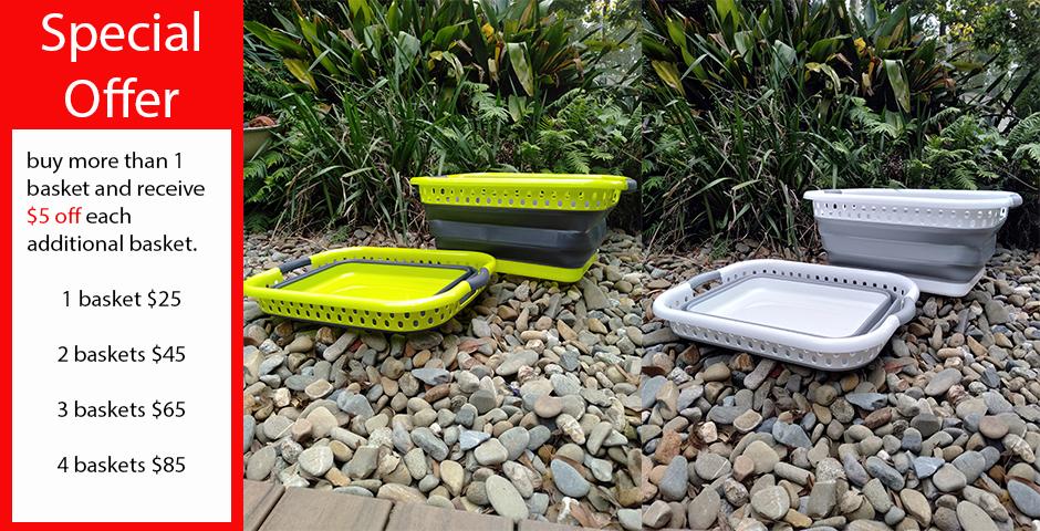 collapsible washing baskets