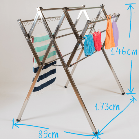 Flexi stainless steel clothes airer drying rack dimesions