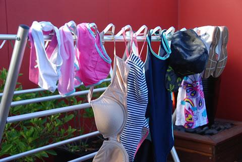 versatile hooks to hang socks, underwear, hats, shoes unlike a washing line