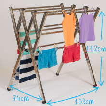 Mini stainless steel clothes airer drying rack dimesions